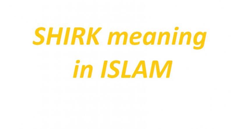 shirk in islam